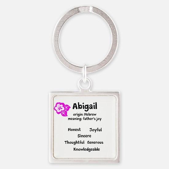 Abigail name design Keychains