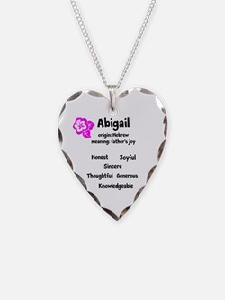 Abigail Name Design Necklace