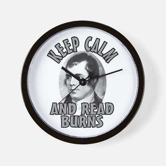 Keep Calm with Robert Burns Wall Clock