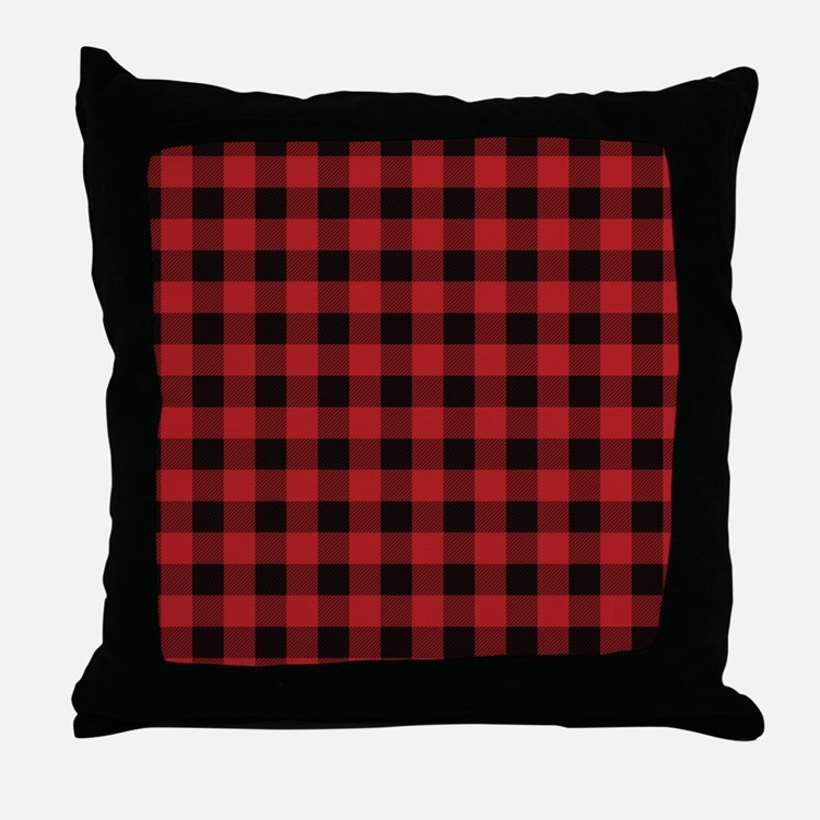 Black Plaid Throw Pillow : Red Flannel Pillows, Red Flannel Throw Pillows & Decorative Couch Pillows