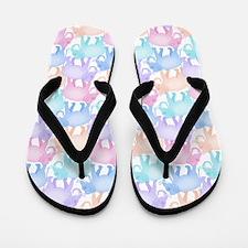 Cute Elephant Pattern Flip Flops