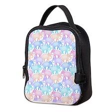 Cute Elephant Pattern Neoprene Lunch Bag