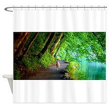 Quanna Running Along River Shower Curtain