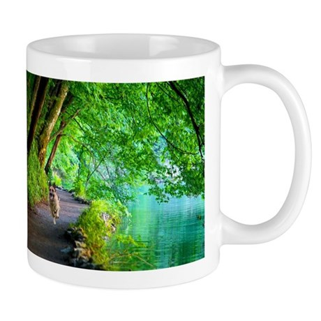 Quanna Running Along River Mugs