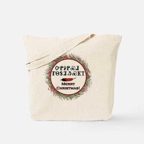 Cherokee Holiday Greetings Tote Bag