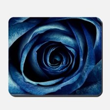 Decorative Blue Rose Bloom Mousepad