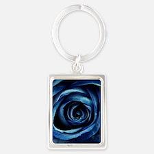 Decorative Blue Rose Bloom Keychains