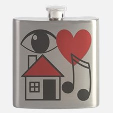 I Love House Music Flask