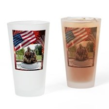 German Shepherd War Dog Memorial Drinking Glass