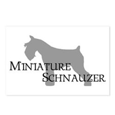 Mini Schnauzer Curly Text Postcards (Package of 8)