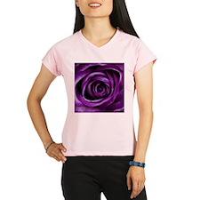 Purple Rose Flower Performance Dry T-Shirt