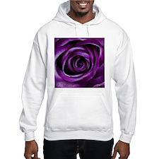 Purple Rose Flower Hoodie