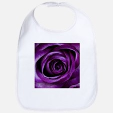 Purple Rose Flower Bib