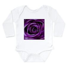 Purple Rose Flower Body Suit
