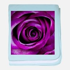 Purple Rose Flower baby blanket