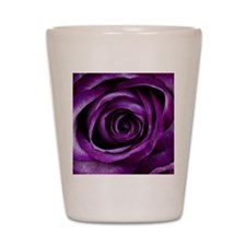 Purple Rose Flower Shot Glass