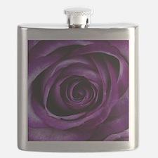 Purple Rose Flower Flask