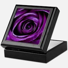 Purple Rose Flower Keepsake Box