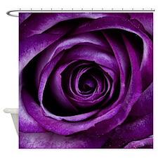 Purple Rose Flower Shower Curtain