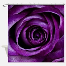 Purple Rose Flower Shower Curtain