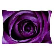 Purple Rose Flower Pillow Case