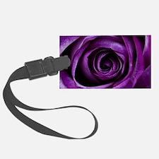 Purple Rose Flower Luggage Tag
