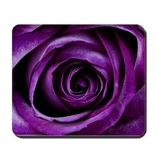 Purple Rose Flower Mousepad
