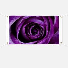 Purple Rose Flower Banner
