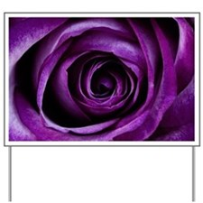 Purple Rose Flower Yard Sign