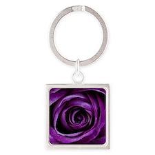 Purple Rose Flower Keychains
