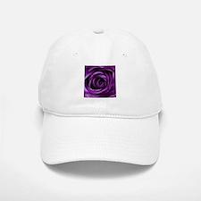 Purple Rose Flower Baseball Baseball Cap