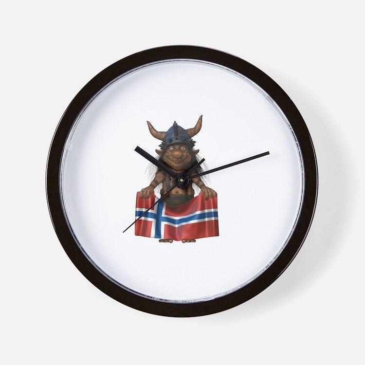 Norwegian Troll Wall Clock