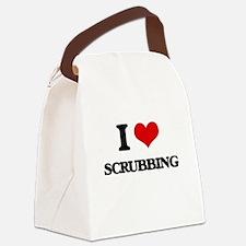 I Love Scrubbing Canvas Lunch Bag