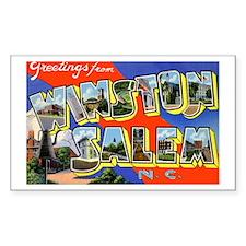 Winston-Salem North Carolina Rectangle Decal