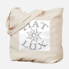 Let There Be Light (Latin) Tote Bag