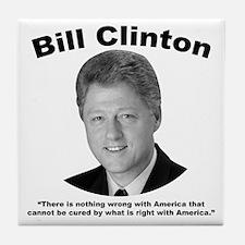 Clinton: America Tile Coaster