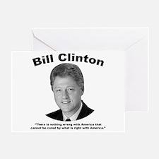 Clinton: America Greeting Card