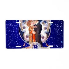 Monogram B Art Deco Starlig Aluminum License Plate