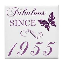 1955 Fabulous Birthday Tile Coaster