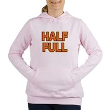 HALF FULL Women's Hooded Sweatshirt