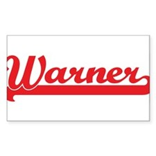 Warner (retro-sport-red) Rectangle Decal