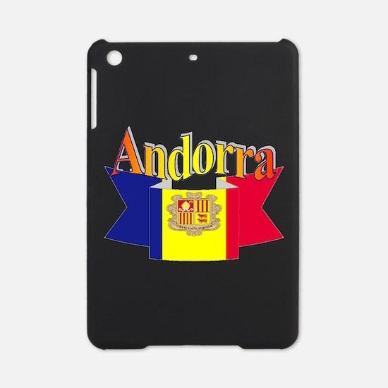 Andorra flag ribbon iPad Mini Case