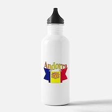 Andorra flag ribbon Water Bottle