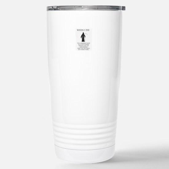 Funeral Director Stainless Steel Travel Mug
