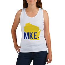 MKE Blue & Yellow Women's Tank Top