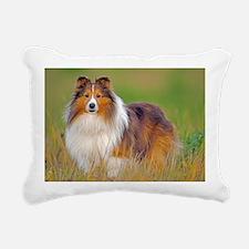 Shetland Sheepdog 01 Rectangular Canvas Pillow