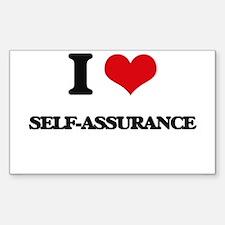I Love Self-Assurance Decal