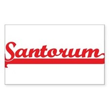 Santorum (retro-sport-red) Rectangle Decal