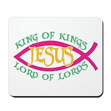 King of Kings Ichthus Mousepad