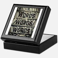 Words Words Words Keepsake Box